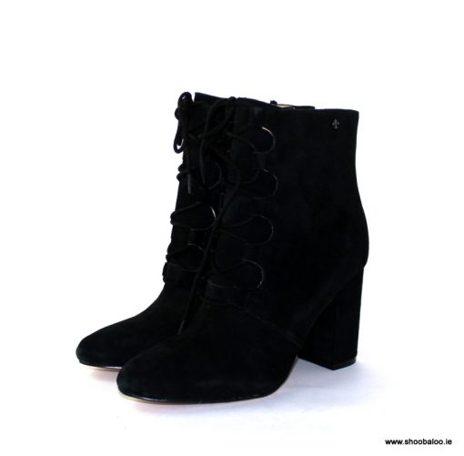 Bourbon by Amy Huberman Stardust in black suede
