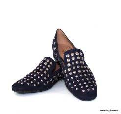 Marian navy stud loafer
