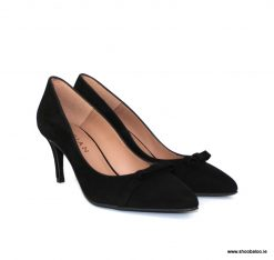 Marian kitten heel court in black suede