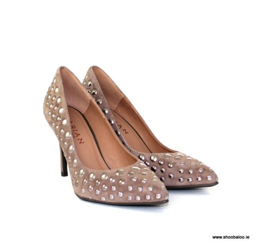 Marian taupe court with studs
