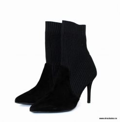 Marian sock boot with cable knit