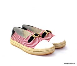 Geox Modesty navy, red and white espadrille