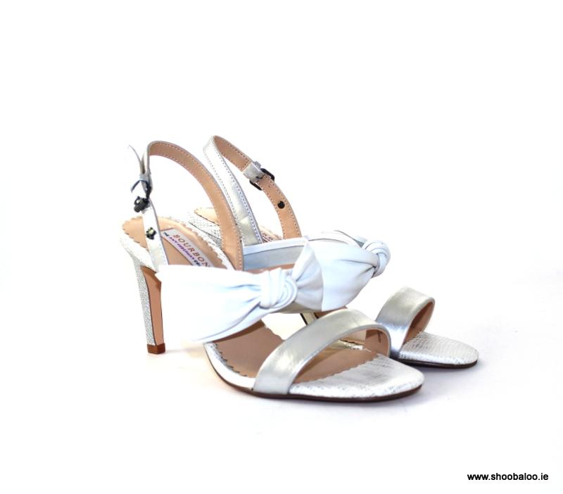 ce4da0407fe Bourbon by Amy Huberman Gorgeous Girl white and silver sandal